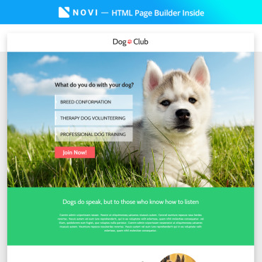 Landing Page Template # 68447