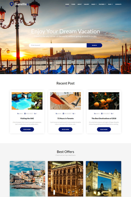 Travel Most Popular website inspirations at your coffee break? Browse for more Vendors #templates! // Regular price: $89 // Sources available: #Travel #Most Popular #Vendors