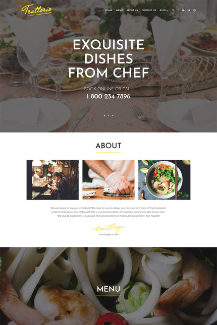 Cafe and Restaurant website inspirations at your coffee break? Browse for more Vendors #templates! // Regular price: $75 // Sources available: #Cafe and Restaurant #Vendors