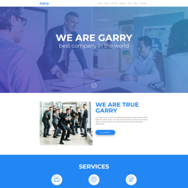 Landing Page Template # 68698