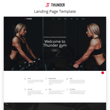 Landing Page Template # 68829