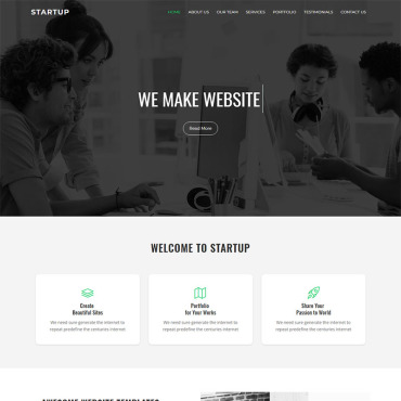 Landing Page Template # 68869