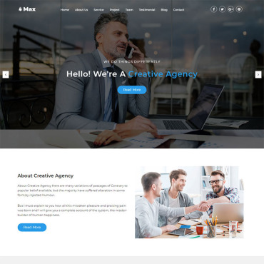 Landing Page Template # 68964