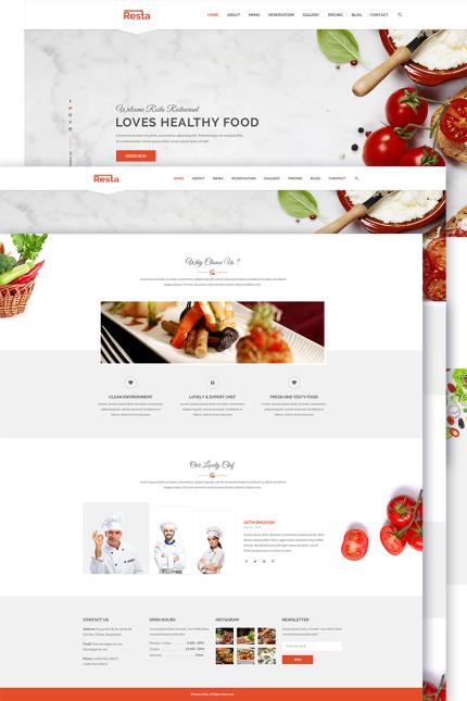 Cafe and Restaurant website inspirations at your coffee break? Browse for more Vendors #templates! // Regular price: $85 // Sources available: #Cafe and Restaurant #Vendors