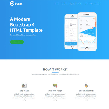 Landing Page Template # 69078