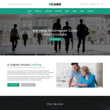 Landing Page Template # 69307