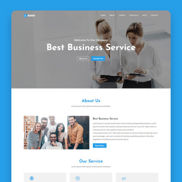 Landing Page Template # 69564