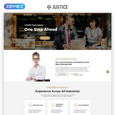 Landing Page Template # 69706