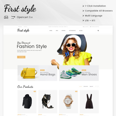 OpenCart Template # 69864