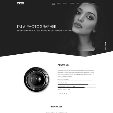 Landing Page Template # 69943