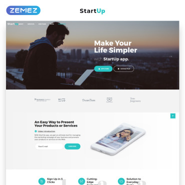 Landing Page Template # 69972