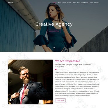 Landing Page Template # 70253