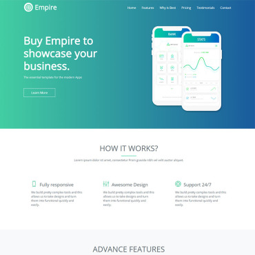 Landing Page Template # 70600