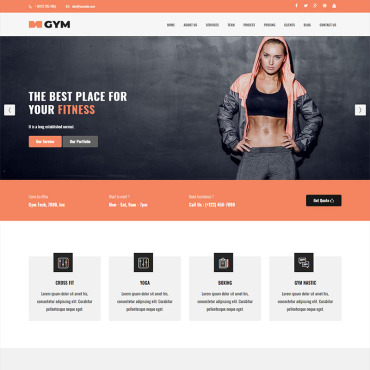 Landing Page Template # 70610