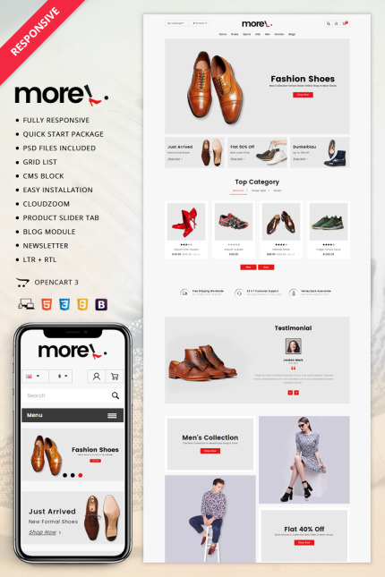 Fashion website inspirations at your coffee break? Browse for more Vendors #templates! // Regular price: $67 // Sources available: #Fashion #Vendors