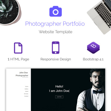Landing Page Template # 70615