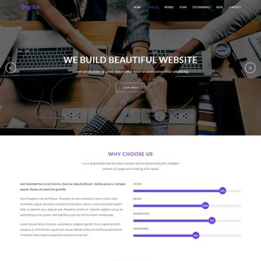 Landing Page Template # 70638