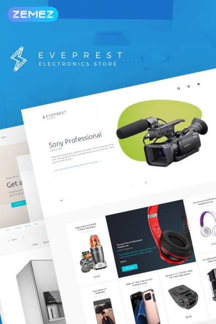 Electronics website inspirations at your coffee break? Browse for more Vendors #templates! // Regular price: $139 // Sources available: #Electronics #Vendors