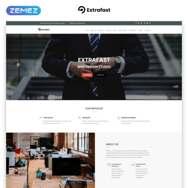 Landing Page Template # 70657