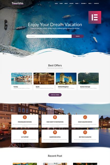 Travel Most Popular website inspirations at your coffee break? Browse for more Vendors #templates! // Regular price: $75 // Sources available: #Travel #Most Popular #Vendors