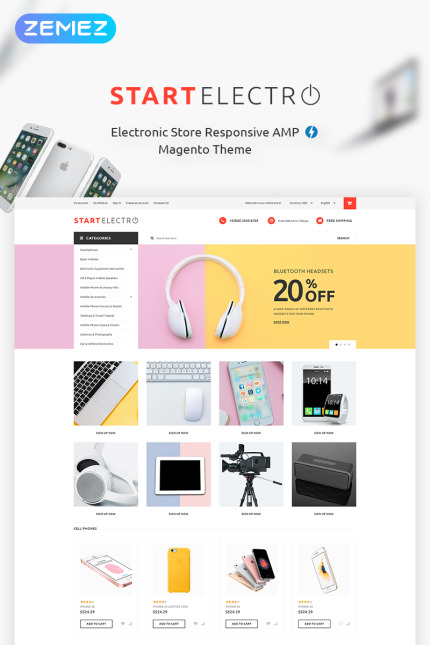 Electronics website inspirations at your coffee break? Browse for more Vendors #templates! // Regular price: $179 // Sources available: #Electronics #Vendors