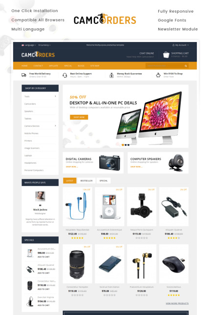 Electronics website inspirations at your coffee break? Browse for more Vendors #templates! // Regular price: $69 // Sources available: #Electronics #Vendors