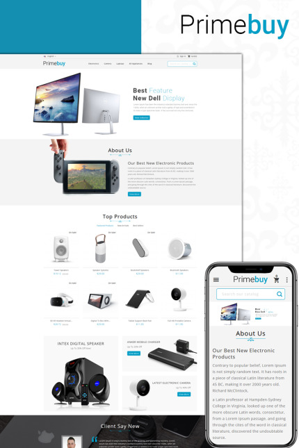 Electronics website inspirations at your coffee break? Browse for more Vendors #templates! // Regular price: $123 // Sources available: #Electronics #Vendors