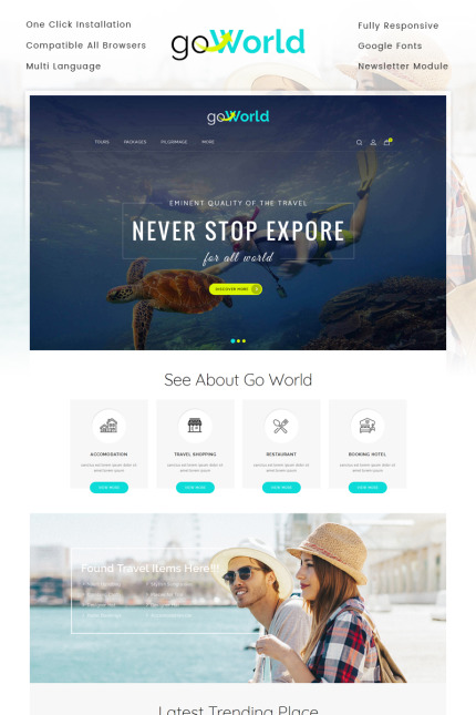 Travel website inspirations at your coffee break? Browse for more Vendors #templates! // Regular price: $69 // Sources available: #Travel #Vendors