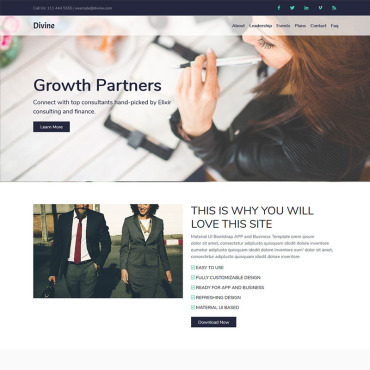 Landing Page Template # 71174
