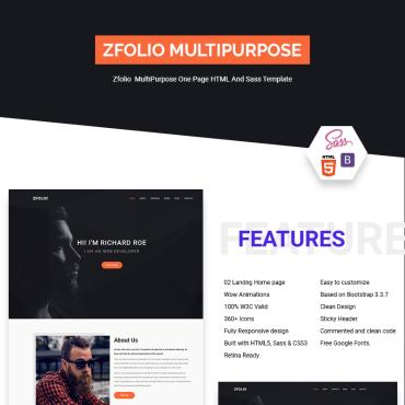 Landing Page Template # 71243
