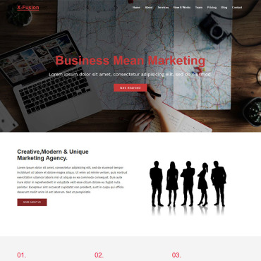 Landing Page Template # 71631