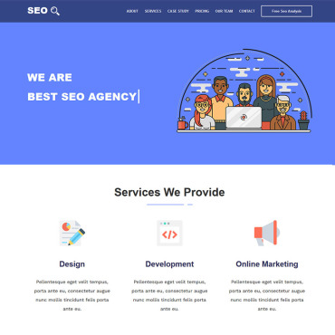 Landing Page Template # 71637