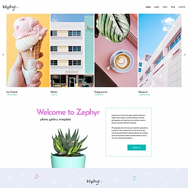 Photo Gallery Template # 71663