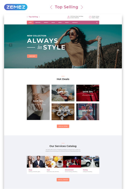 Fashion website inspirations at your coffee break? Browse for more Vendors #templates! // Regular price: $72 // Sources available: #Fashion #Vendors