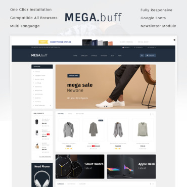 OpenCart Template # 72098