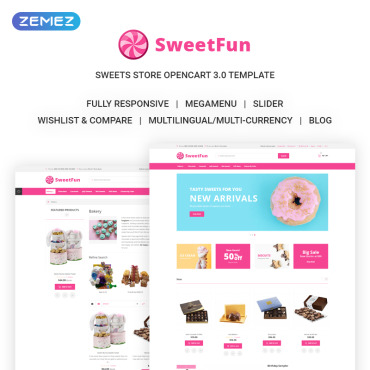 OpenCart Template # 73213