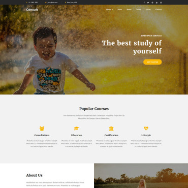 Landing Page Template # 73441