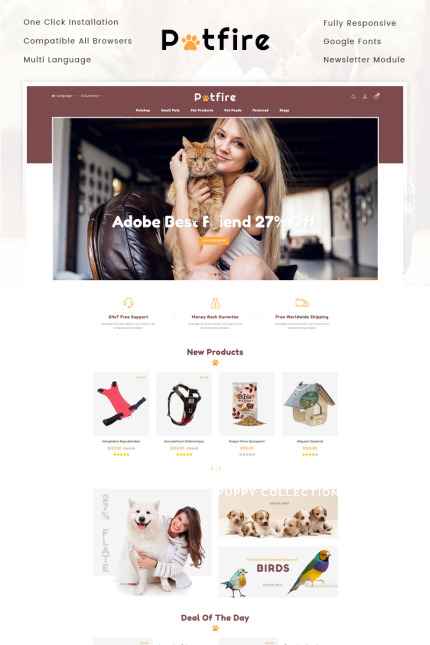Animals & Pets website inspirations at your coffee break? Browse for more Vendors #templates! // Regular price: $69 // Sources available: #Animals & Pets #Vendors