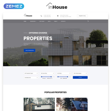 Website Template # 73602