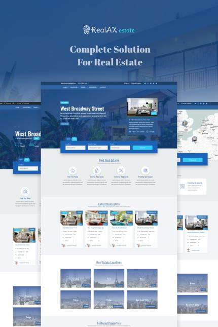 Real Estate website inspirations at your coffee break? Browse for more Vendors #templates! // Regular price: $85 // Sources available: #Real Estate #Vendors