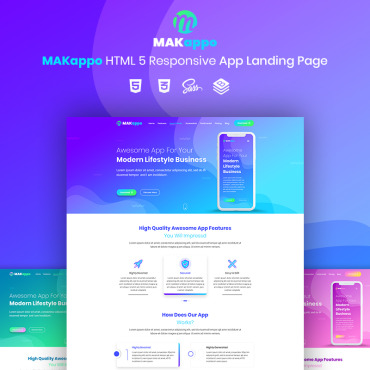 Landing Page Template # 73811