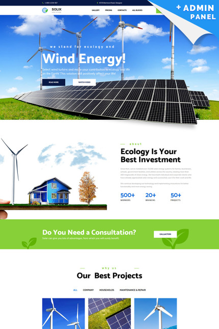 Solar Energy Landing Page Template