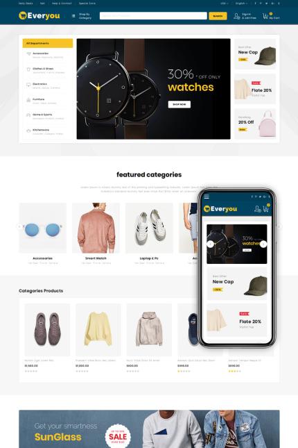 Plantilla para magento - Categoría: Cafés y restaurantes - versión para Desktop