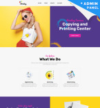 Printing Company Landing Page Template