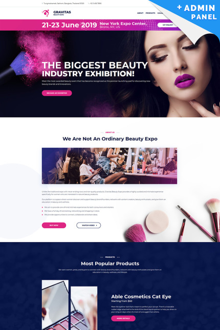 Beauty Landing Page Template