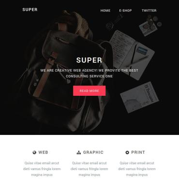 Newsletter Template # 75925