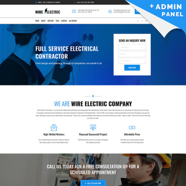 Landing Page Template # 76671