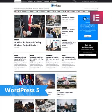 WordPress Theme # 76860