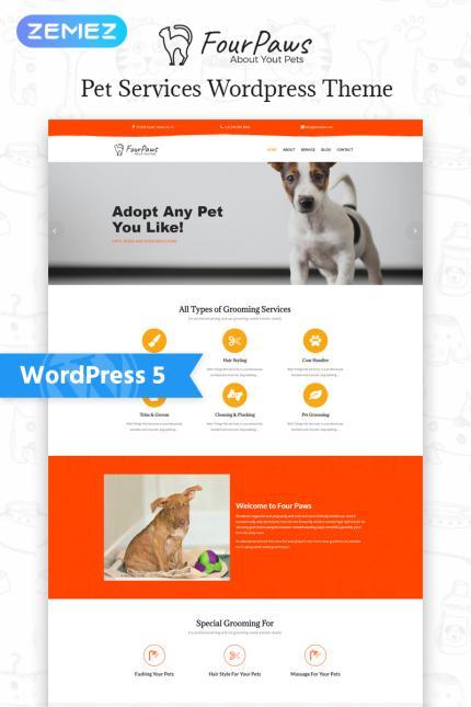 Tema para wordpress - Categoría: Animales y mascotas - versión para Desktop