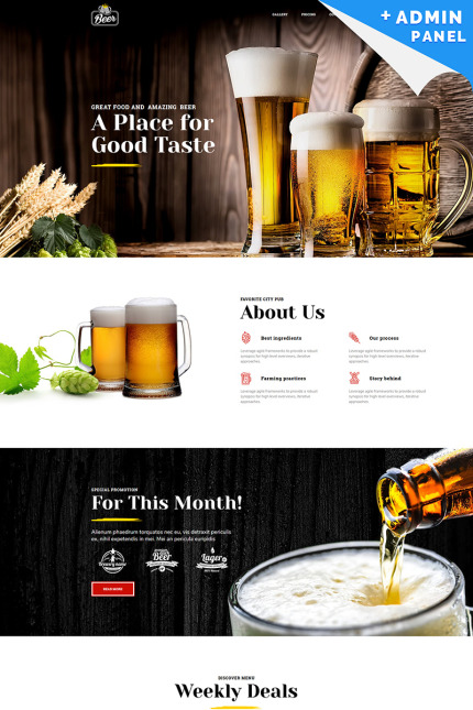 Brewery Landing Page Template